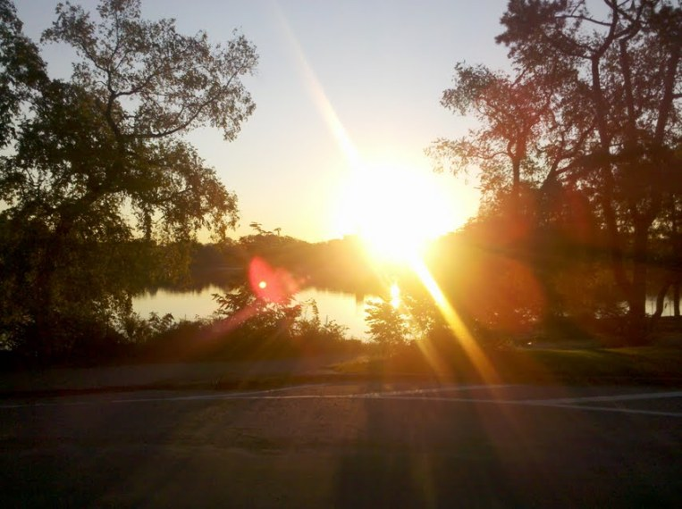 sunrise in park